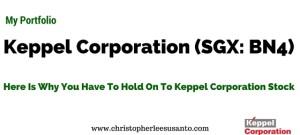 Keppel Corporation Hold-able www.christopherleesusanto.com