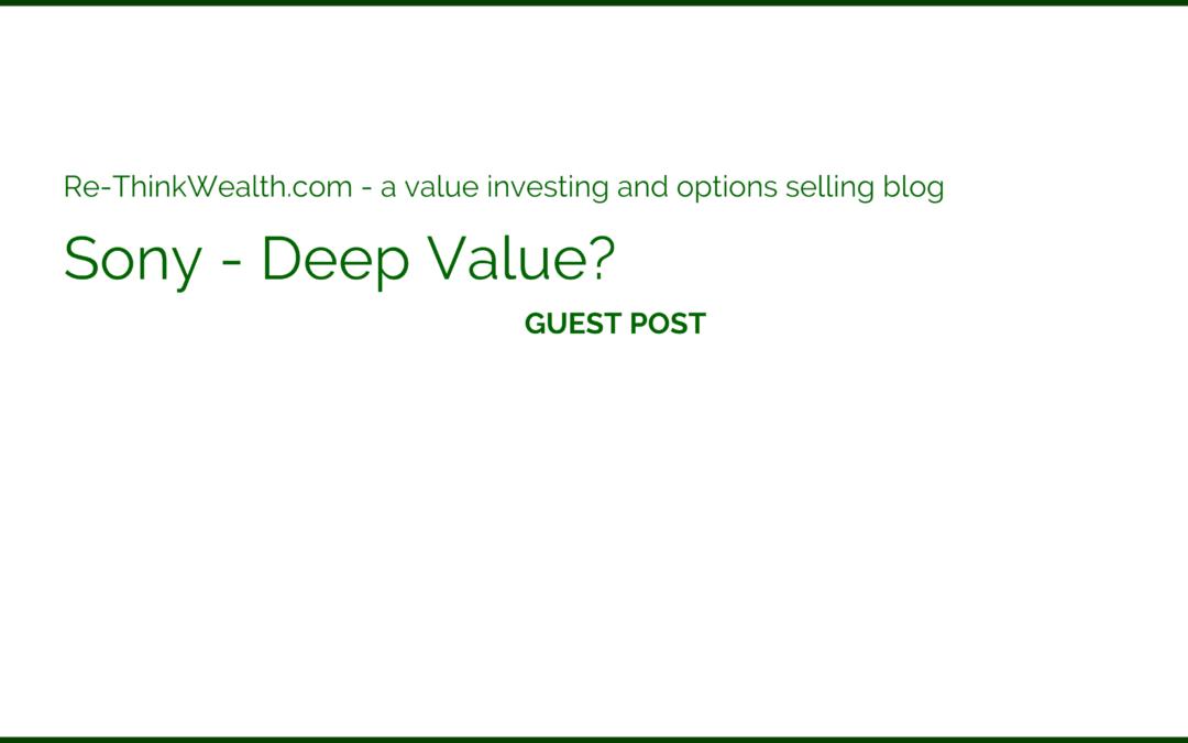 Sony – Deep Value?