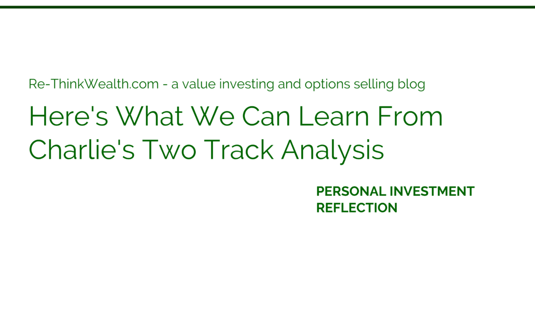 Here's What We Can Learn From Charlie's Two Track Analysis