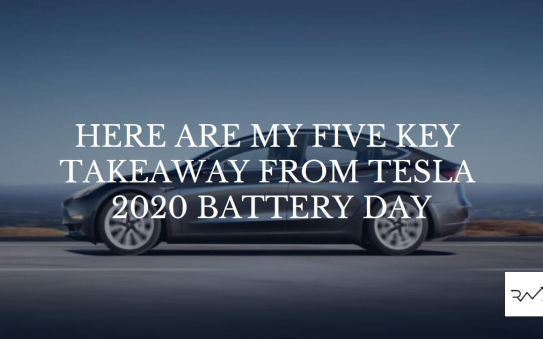 Here Are My Five Key Takeaway From Tesla 2020 Battery Day