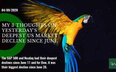 My 3 Thoughts on Yesterday's Deepest US Market Decline Since June